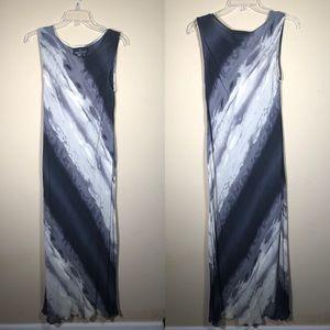 3/$25 Carole Little Sheer Black Grey Maxi Dress